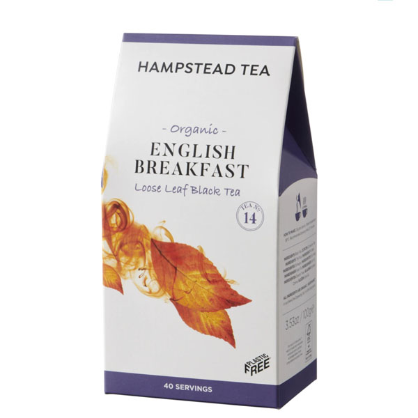 Té negro ecológico English Breakfast a granel Hampstead Tea